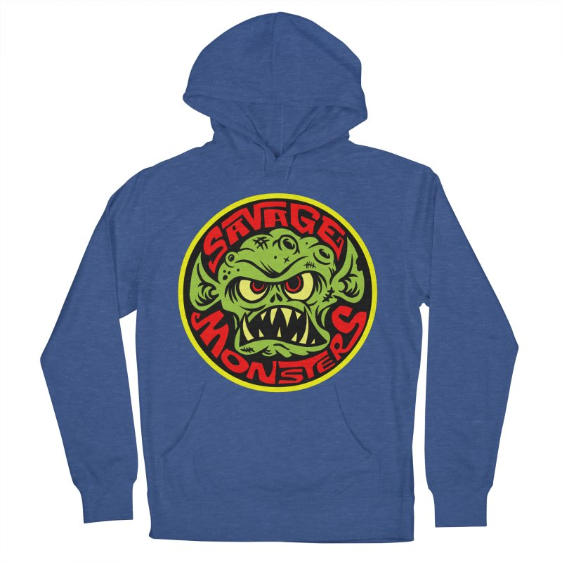 Classic Savage Monsters Logo Women's French Terry Pullover Hoody by SavageMonsters's Artist Shop