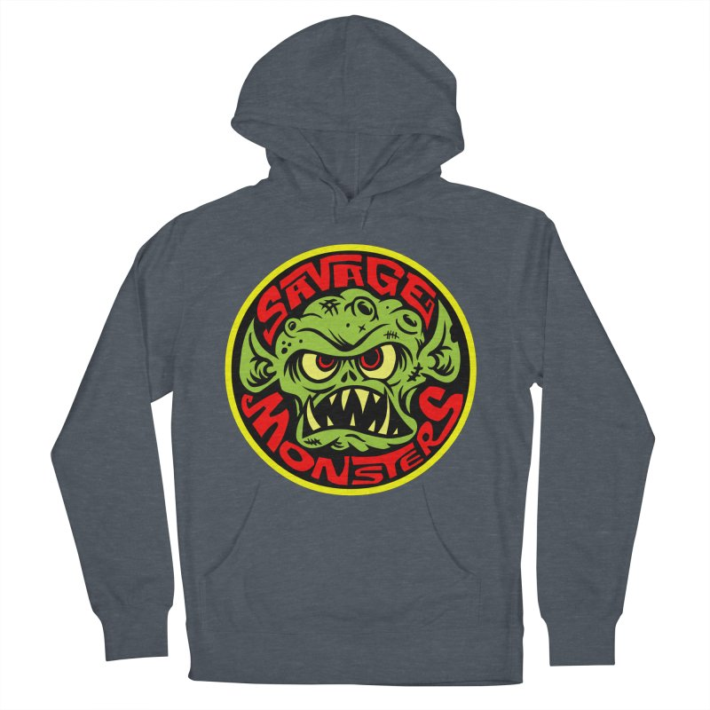 Classic Savage Monsters Logo Men's Pullover Hoody by SavageMonsters's Artist Shop