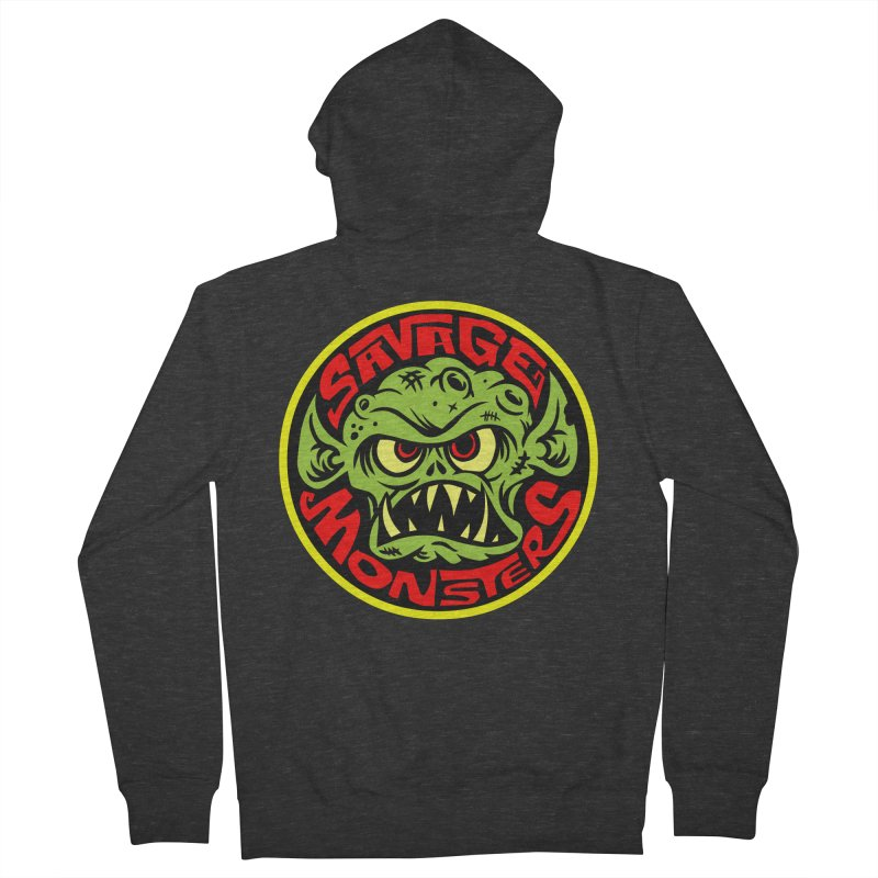 Classic Savage Monsters Logo Women's Zip-Up Hoody by SavageMonsters's Artist Shop
