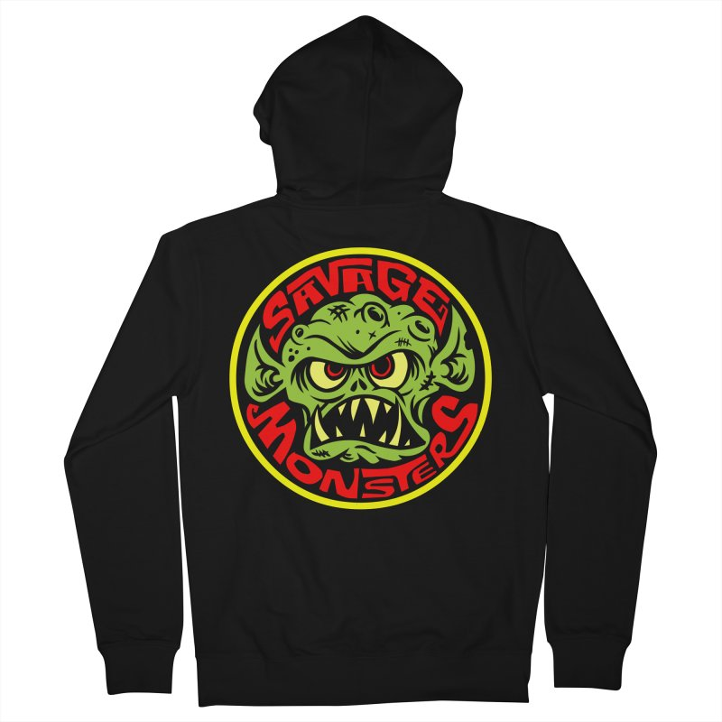 Classic Savage Monsters Logo Women's French Terry Zip-Up Hoody by SavageMonsters's Artist Shop
