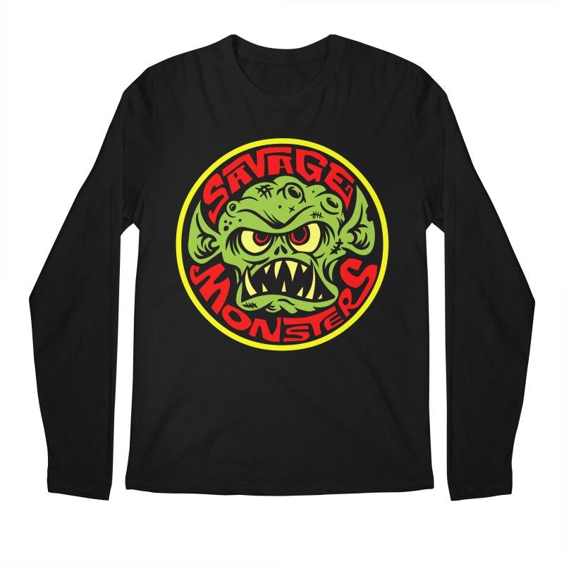 Classic Savage Monsters Logo Men's Regular Longsleeve T-Shirt by SavageMonsters's Artist Shop