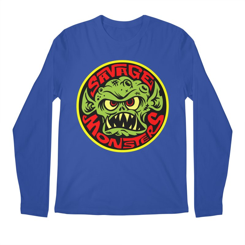 Classic Savage Monsters Logo Men's Longsleeve T-Shirt by SavageMonsters's Artist Shop