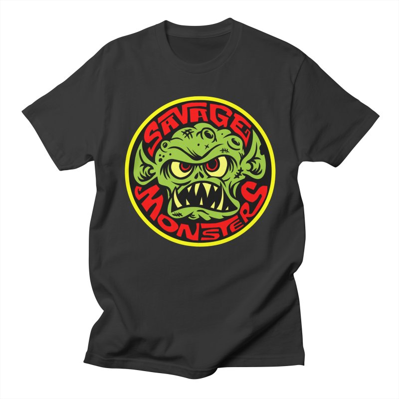 Classic Savage Monsters Logo Men's T-Shirt by SavageMonsters's Artist Shop