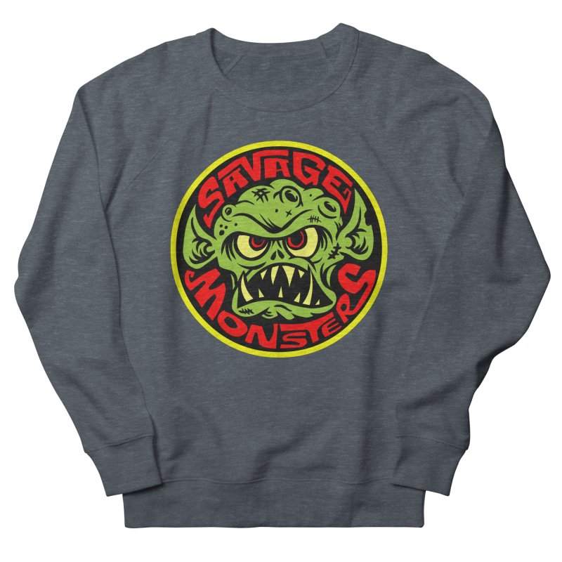 Classic Savage Monsters Logo Women's French Terry Sweatshirt by SavageMonsters's Artist Shop