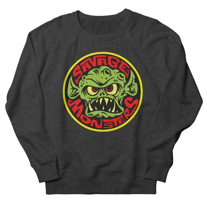 Classic Savage Monsters Logo Men's French Terry Sweatshirt by SavageMonsters's Artist Shop