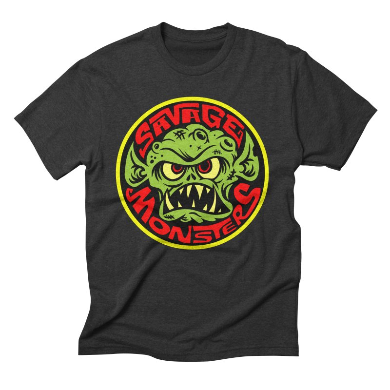 Classic Savage Monsters Logo Men's Triblend T-Shirt by SavageMonsters's Artist Shop