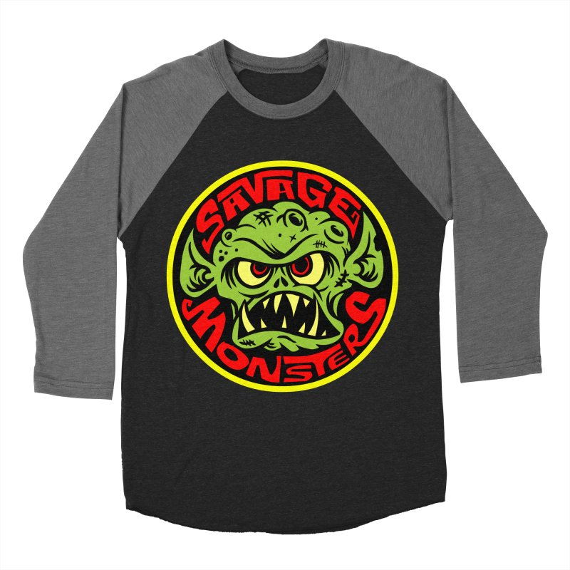 Classic Savage Monsters Logo Men's Baseball Triblend T-Shirt by SavageMonsters's Artist Shop