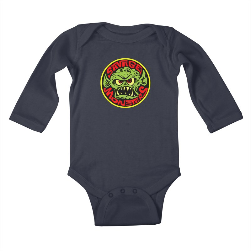 Classic Savage Monsters Logo Kids Baby Longsleeve Bodysuit by SavageMonsters's Artist Shop