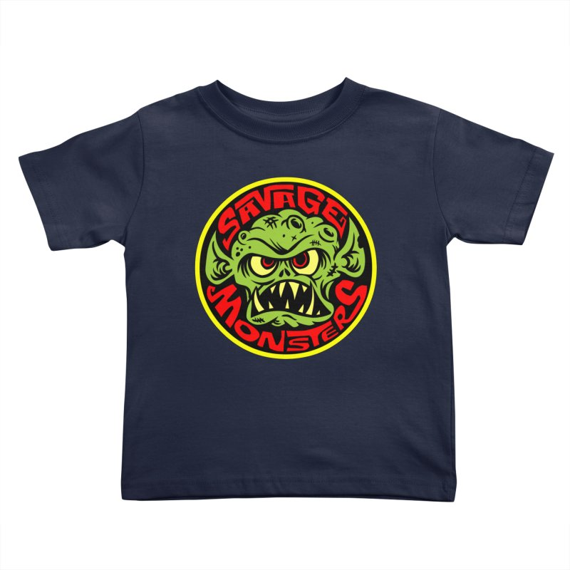 Classic Savage Monsters Logo Kids Toddler T-Shirt by SavageMonsters's Artist Shop