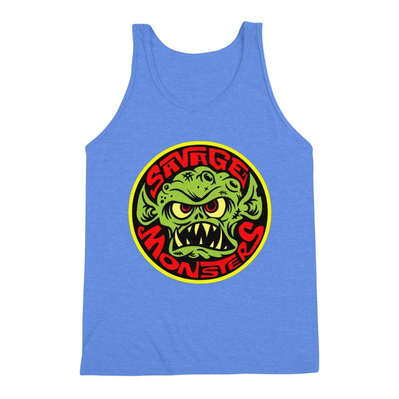 Classic Savage Monsters Logo Men's Triblend Tank by SavageMonsters's Artist Shop