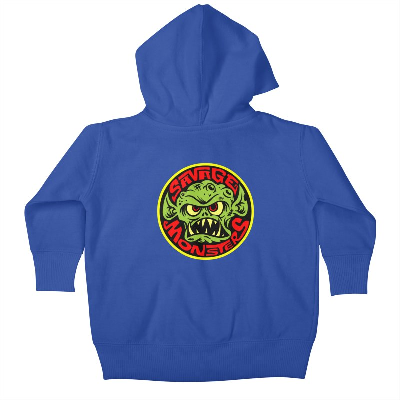 Classic Savage Monsters Logo Kids Baby Zip-Up Hoody by SavageMonsters's Artist Shop