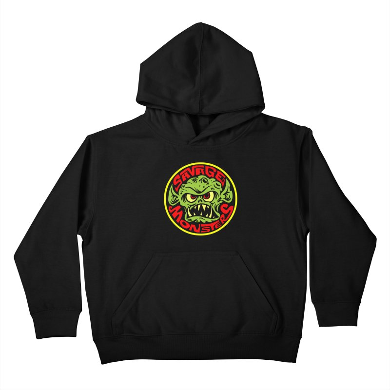 Classic Savage Monsters Logo Kids Pullover Hoody by SavageMonsters's Artist Shop