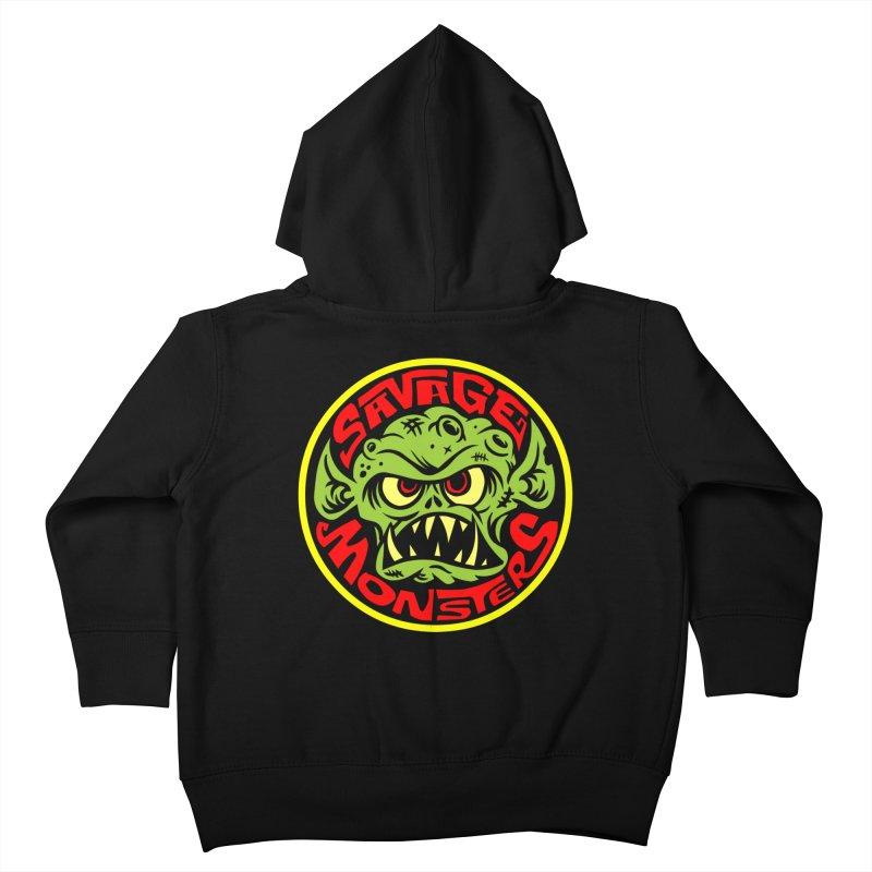 Classic Savage Monsters Logo Kids Toddler Zip-Up Hoody by SavageMonsters's Artist Shop