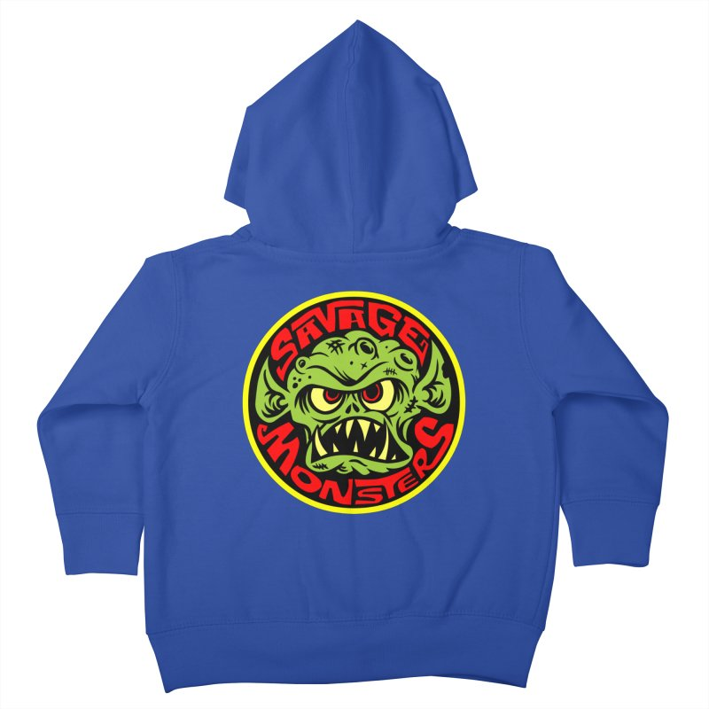 Classic Savage Monsters Logo Kids Toddler Zip-Up Hoody by SavageMonsters's Artist Shop