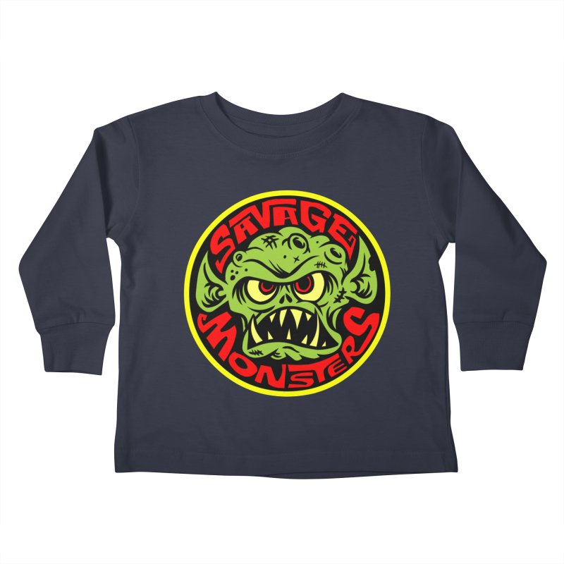 Classic Savage Monsters Logo Kids Toddler Longsleeve T-Shirt by SavageMonsters's Artist Shop