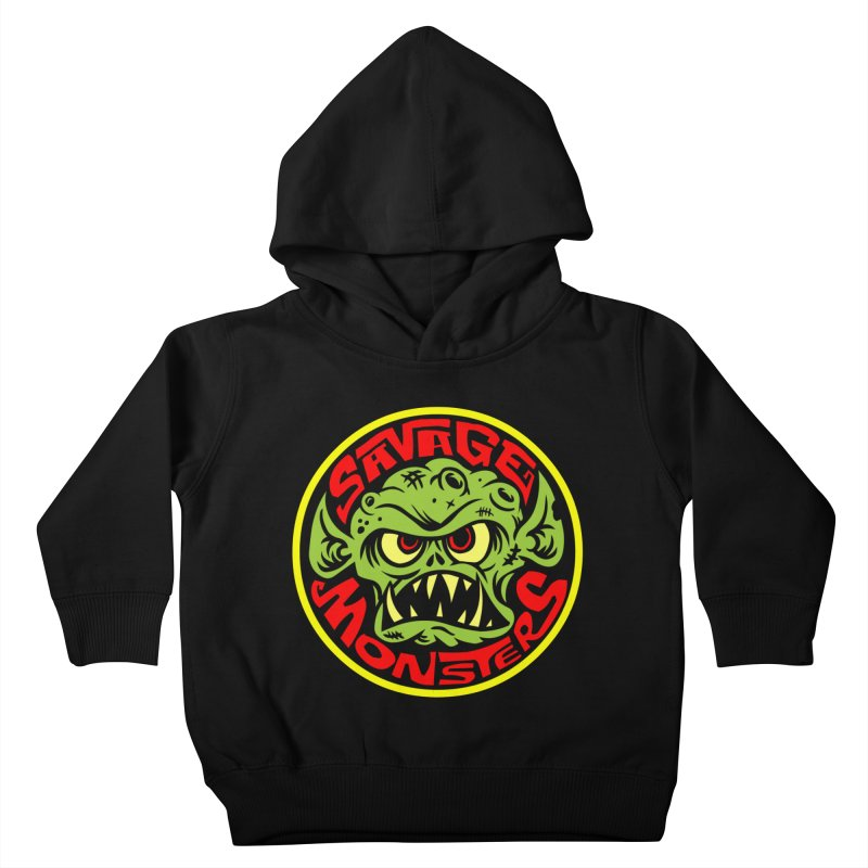 Classic Savage Monsters Logo Kids Toddler Pullover Hoody by SavageMonsters's Artist Shop
