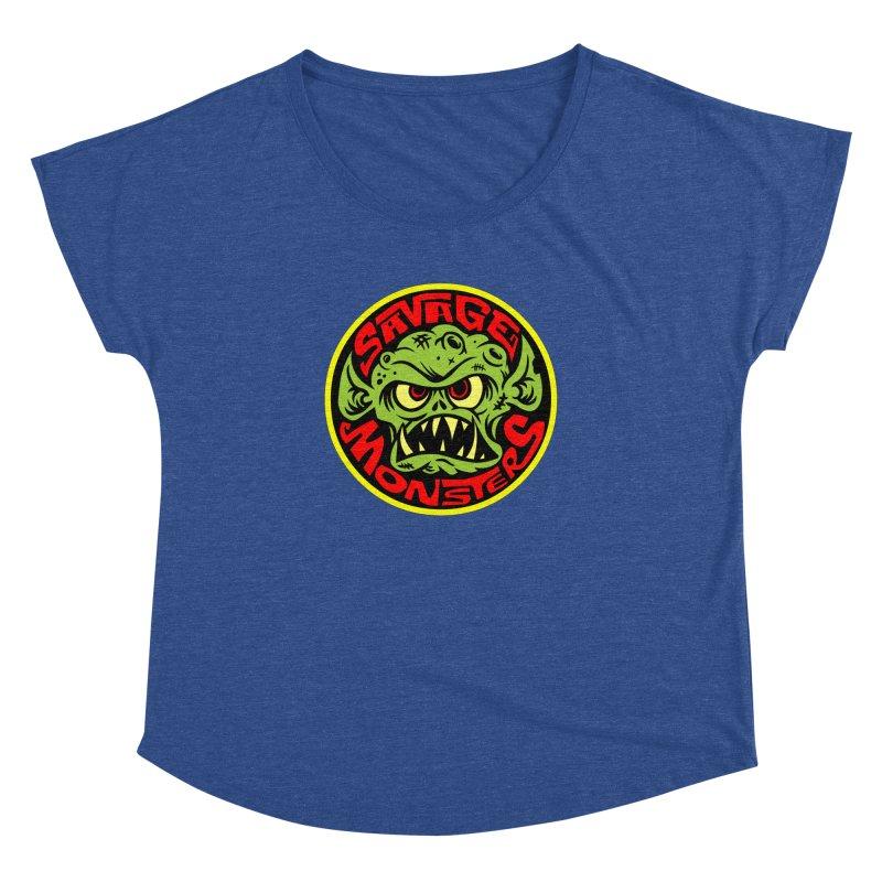 Classic Savage Monsters Logo Women's Dolman by SavageMonsters's Artist Shop