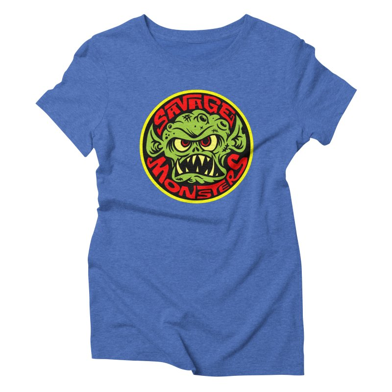 Classic Savage Monsters Logo Women's Triblend T-Shirt by SavageMonsters's Artist Shop