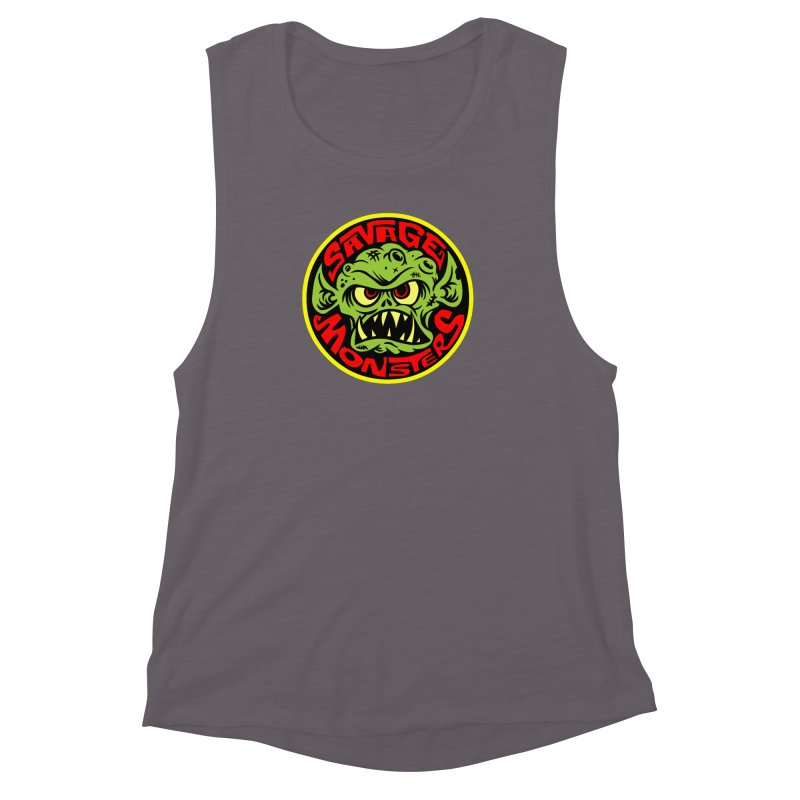 Classic Savage Monsters Logo Women's Muscle Tank by SavageMonsters's Artist Shop