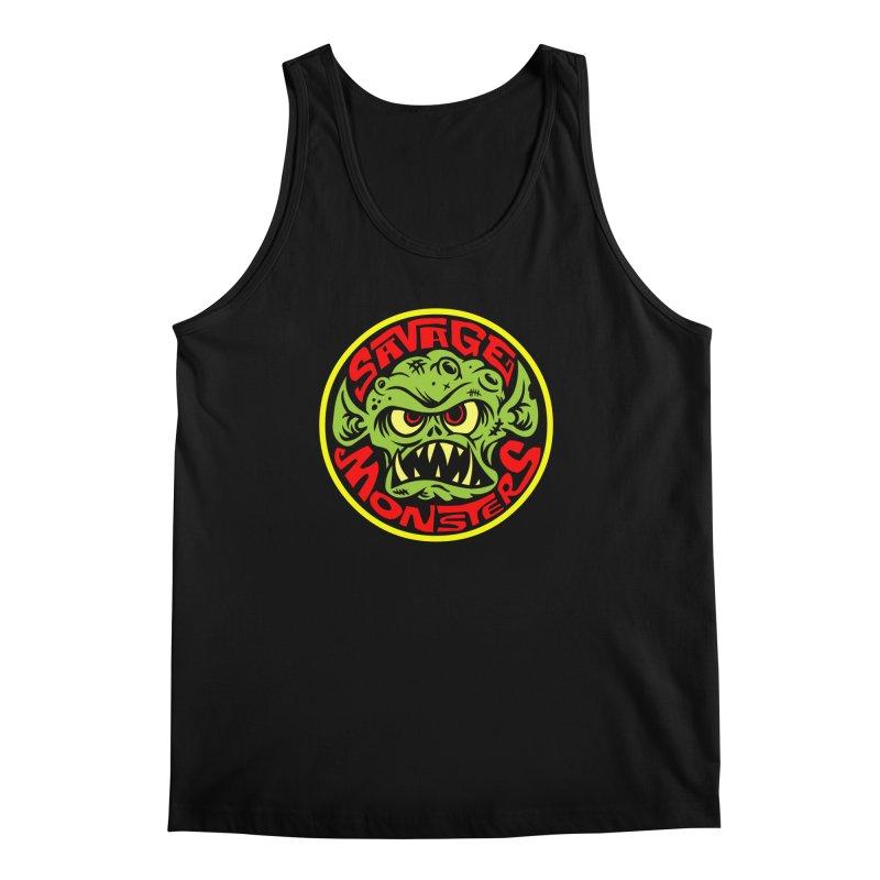 Classic Savage Monsters Logo Men's Tank by SavageMonsters's Artist Shop