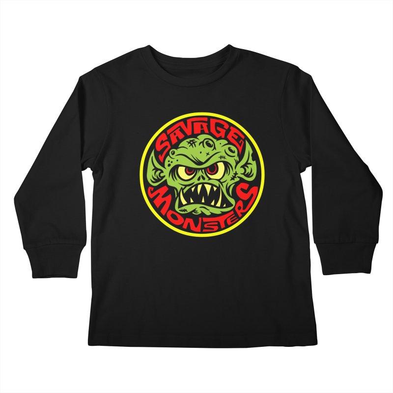 Classic Savage Monsters Logo Kids Longsleeve T-Shirt by SavageMonsters's Artist Shop