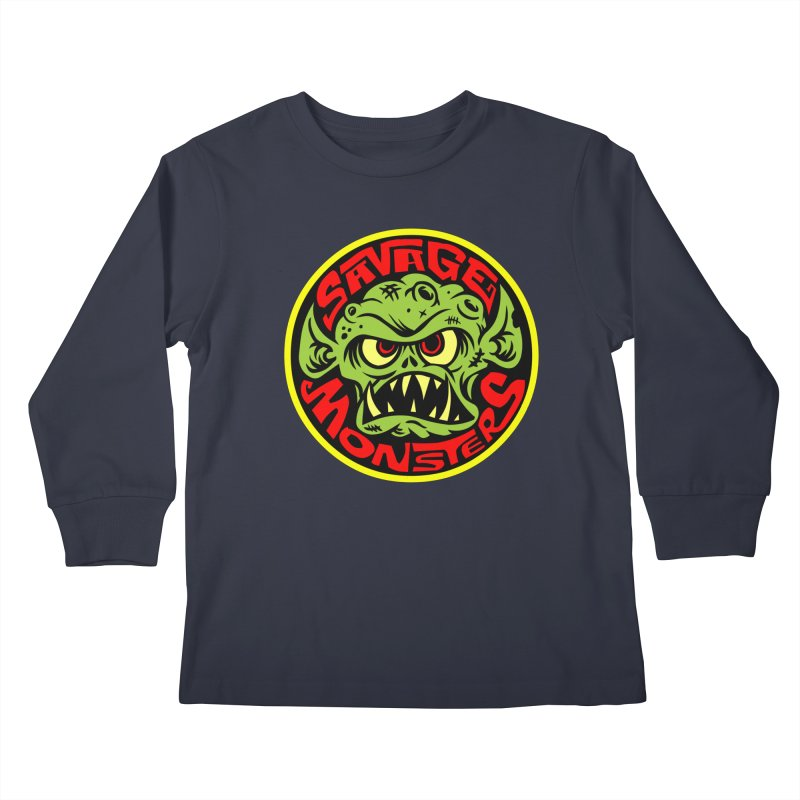 Classic Savage Monsters Logo Kids Longsleeve T-Shirt by SavageMonsters's Artist Shop