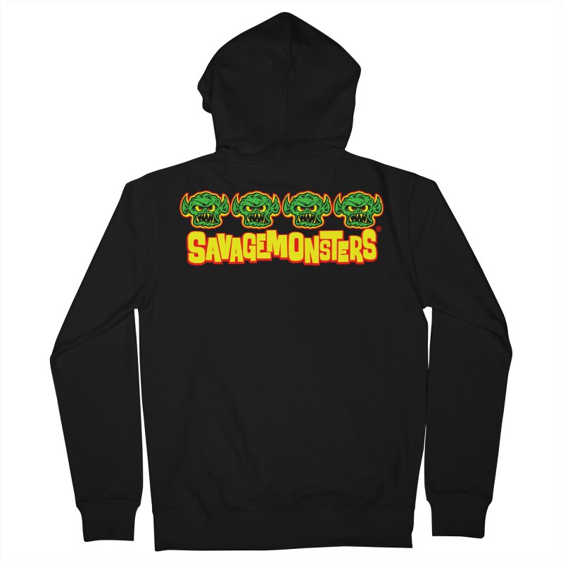 Savage Monsters Candy Logo Men's French Terry Zip-Up Hoody by SavageMonsters's Artist Shop
