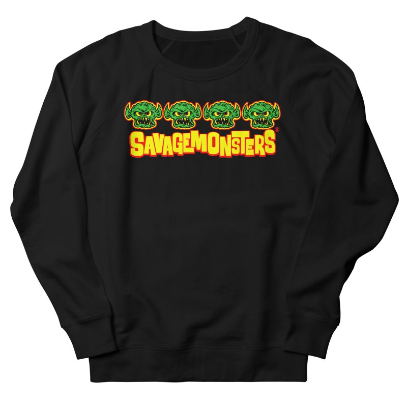 Savage Monsters Candy Logo Men's French Terry Sweatshirt by SavageMonsters's Artist Shop