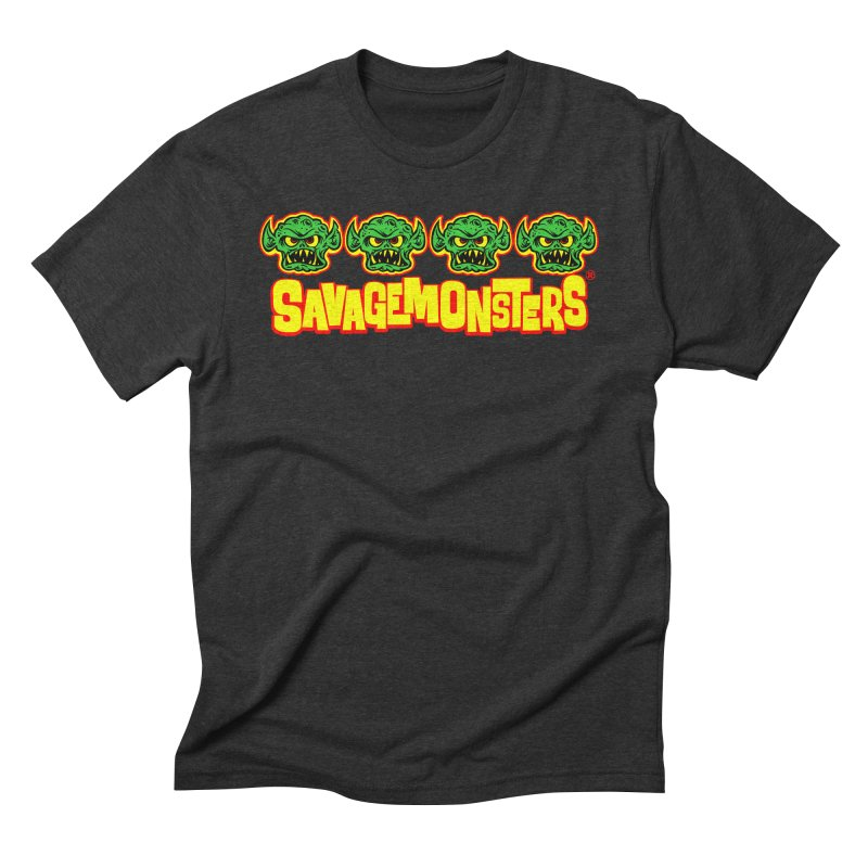 Savage Monsters Candy Logo Men's Triblend T-Shirt by SavageMonsters's Artist Shop