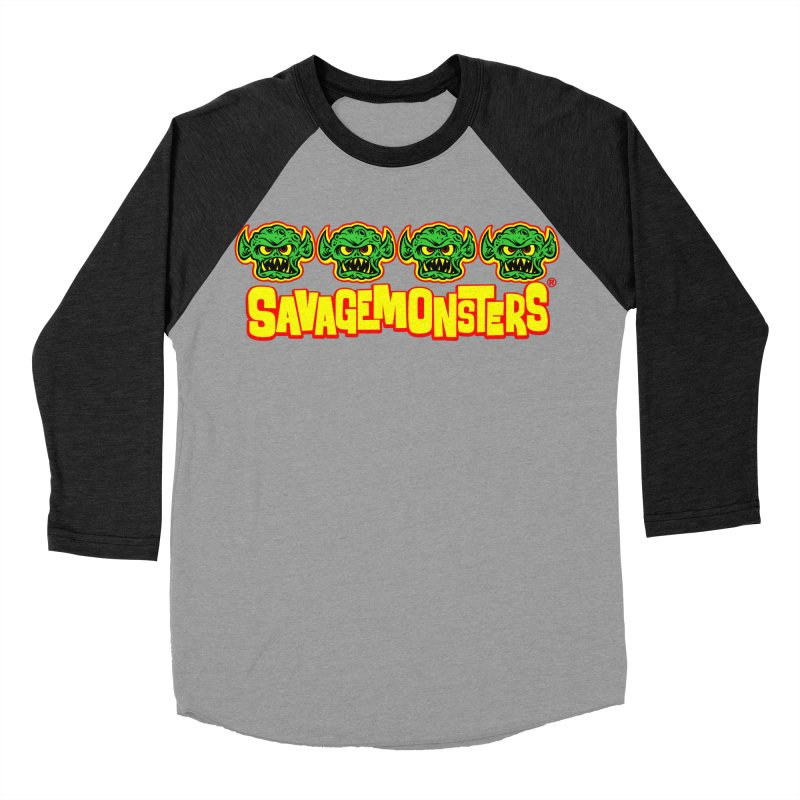 Savage Monsters Candy Logo Women's Baseball Triblend Longsleeve T-Shirt by SavageMonsters's Artist Shop