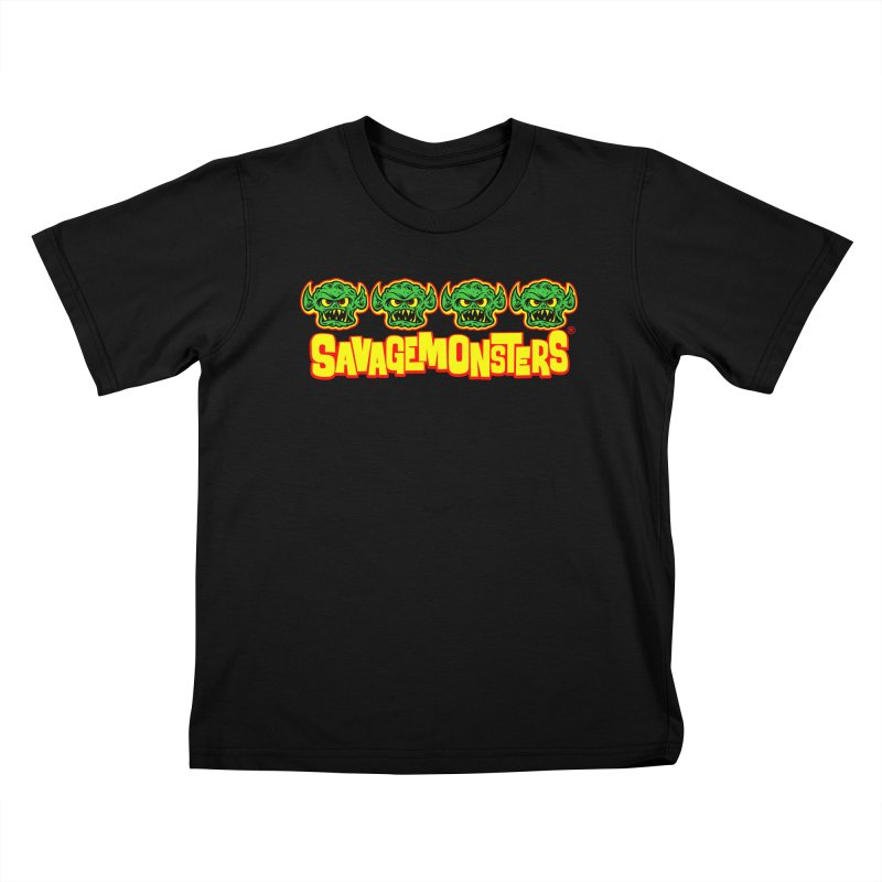 Savage Monsters Candy Logo Kids T-Shirt by SavageMonsters's Artist Shop