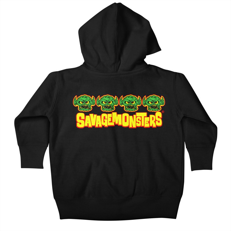 Savage Monsters Candy Logo Kids Baby Zip-Up Hoody by SavageMonsters's Artist Shop