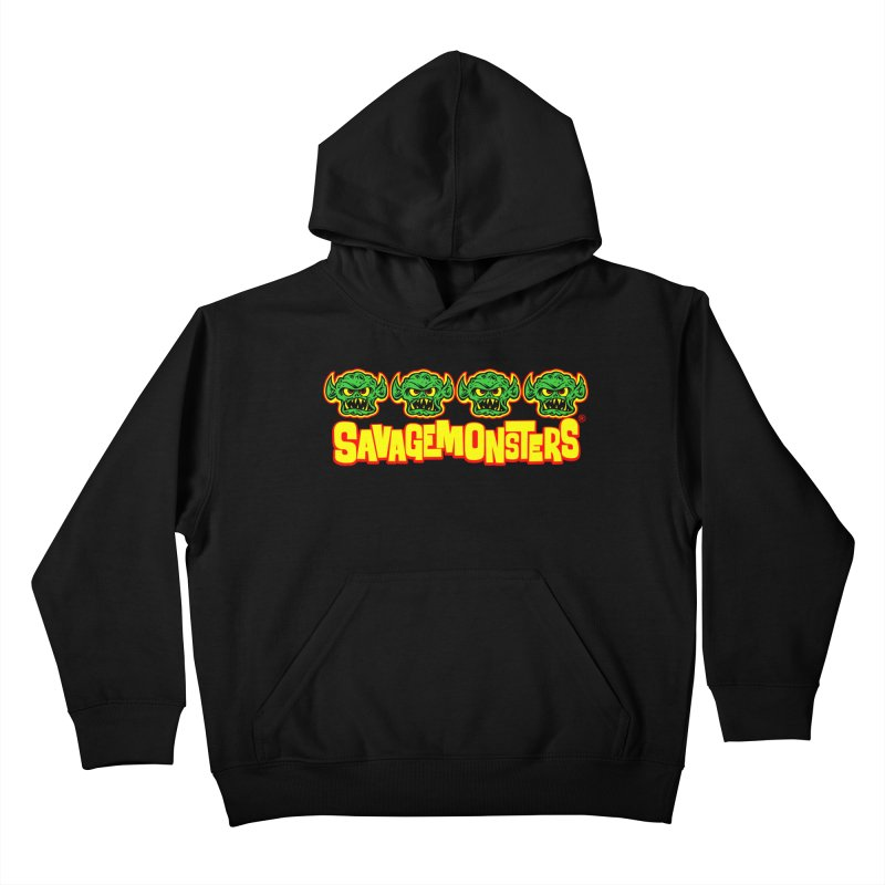 Savage Monsters Candy Logo Kids Pullover Hoody by SavageMonsters's Artist Shop