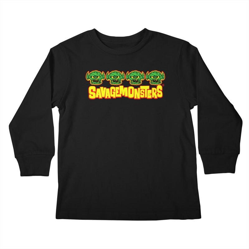 Savage Monsters Candy Logo Kids Longsleeve T-Shirt by SavageMonsters's Artist Shop