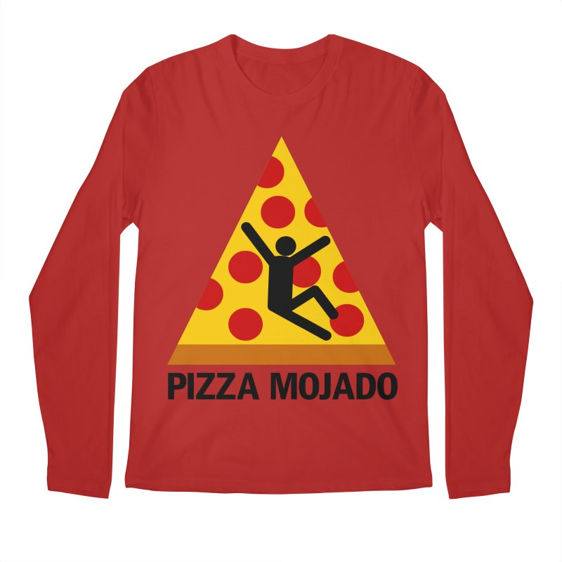Pizza Mojado Men's Longsleeve T-Shirt by SavageMonsters's Artist Shop