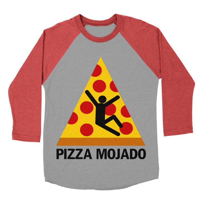 Pizza Mojado Men's Baseball Triblend T-Shirt by SavageMonsters's Artist Shop