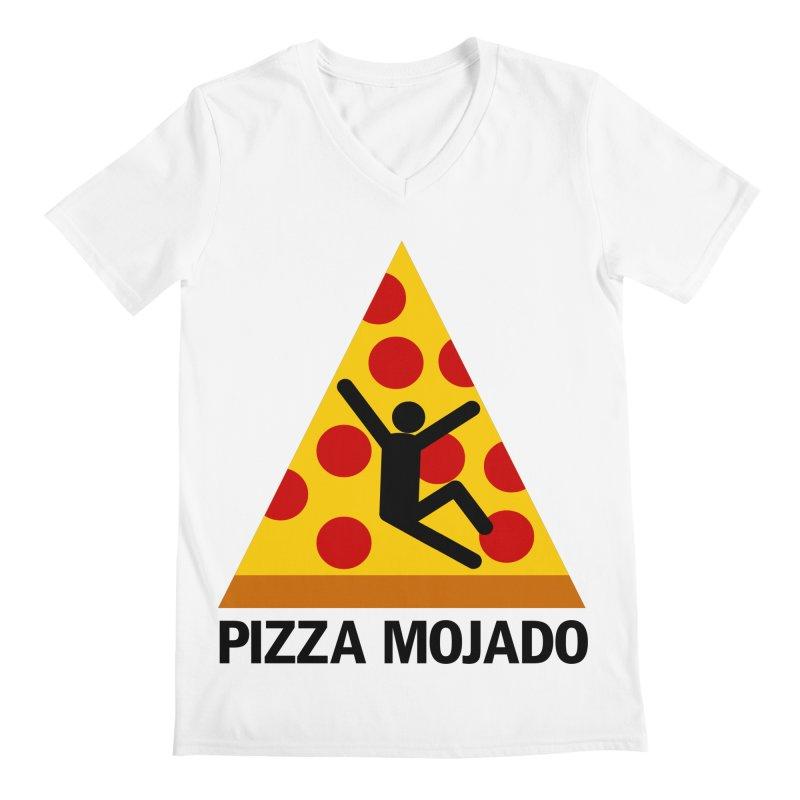 Pizza Mojado Men's V-Neck by SavageMonsters's Artist Shop