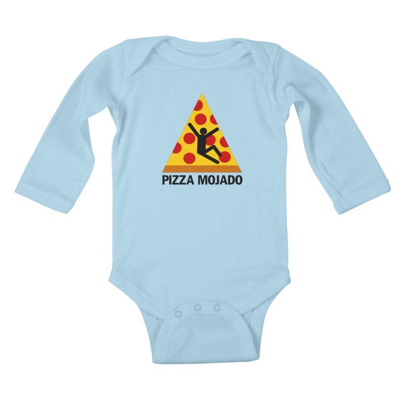 Pizza Mojado Kids Baby Longsleeve Bodysuit by SavageMonsters's Artist Shop