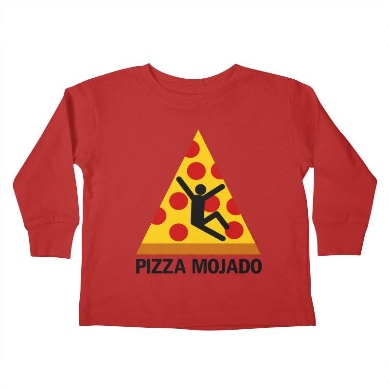 Pizza Mojado Kids Toddler Longsleeve T-Shirt by SavageMonsters's Artist Shop