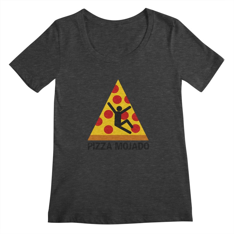 Pizza Mojado Women's Scoopneck by SavageMonsters's Artist Shop