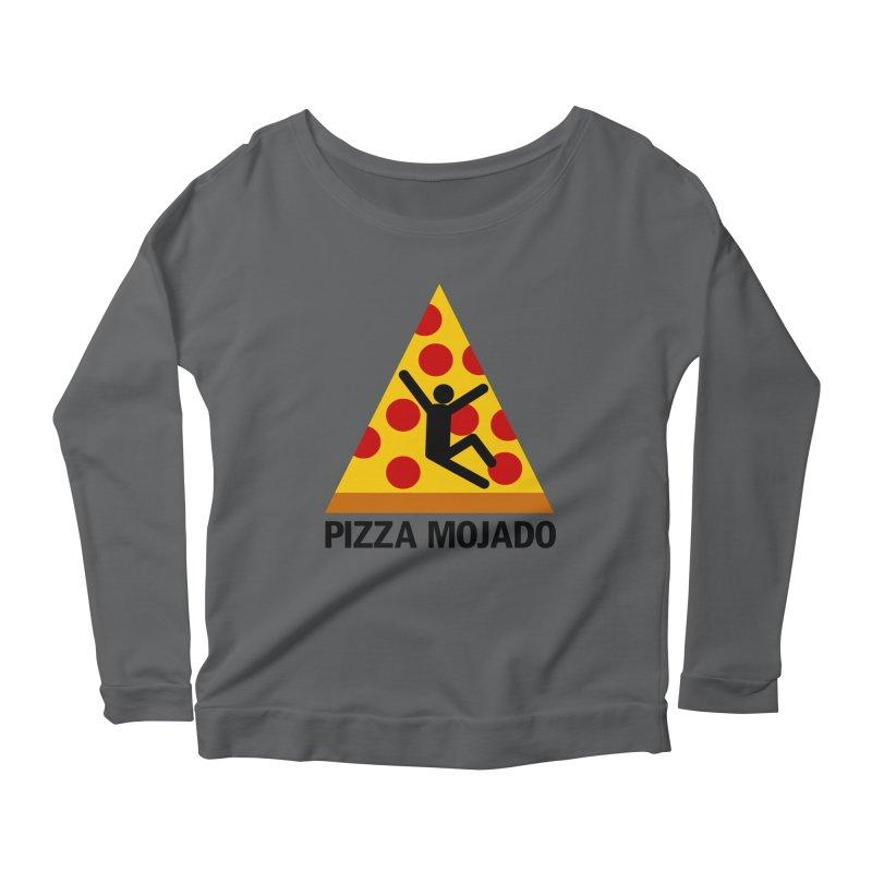 Pizza Mojado Women's Longsleeve Scoopneck  by SavageMonsters's Artist Shop