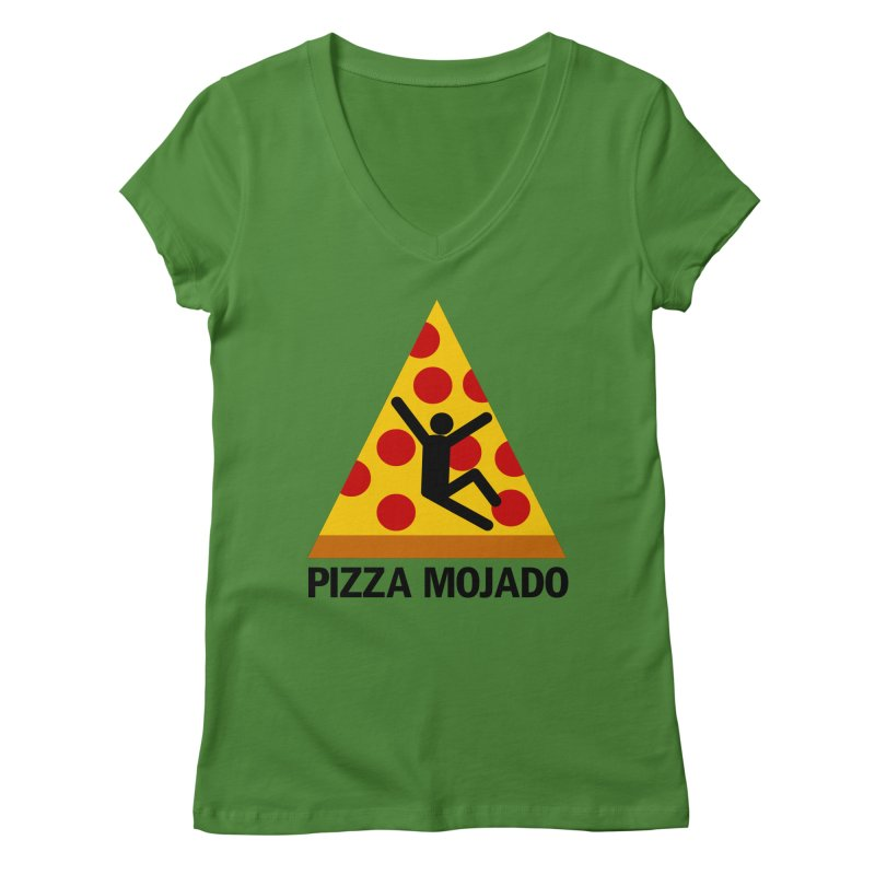 Pizza Mojado Women's V-Neck by SavageMonsters's Artist Shop