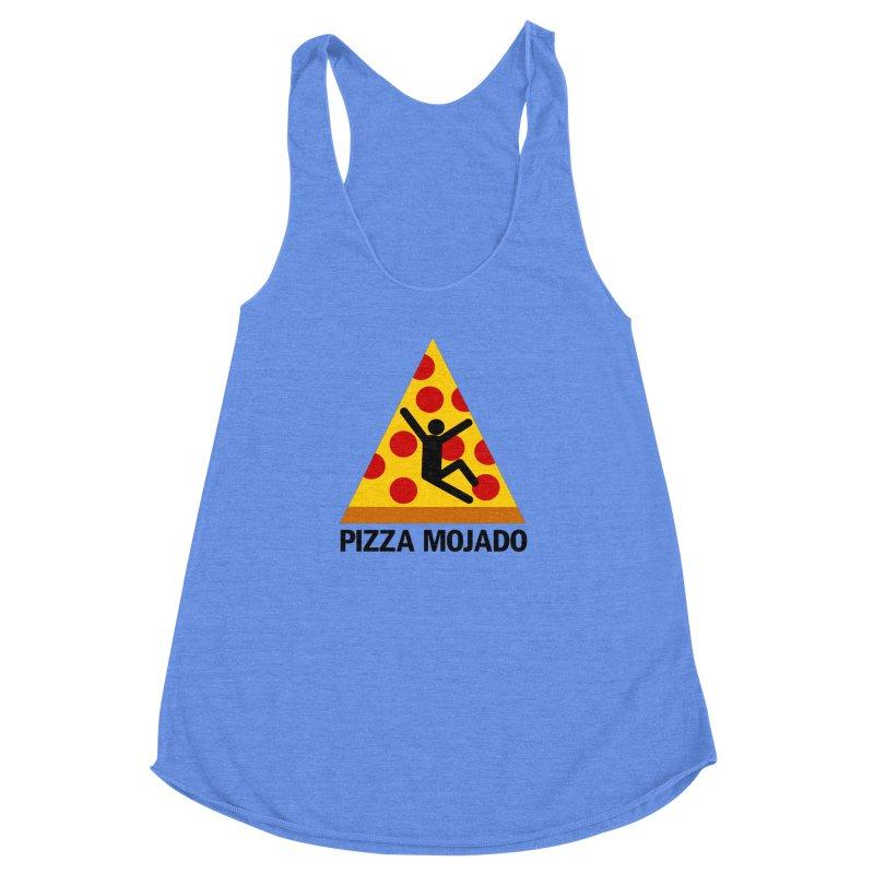 Pizza Mojado Women's Racerback Triblend Tank by SavageMonsters's Artist Shop