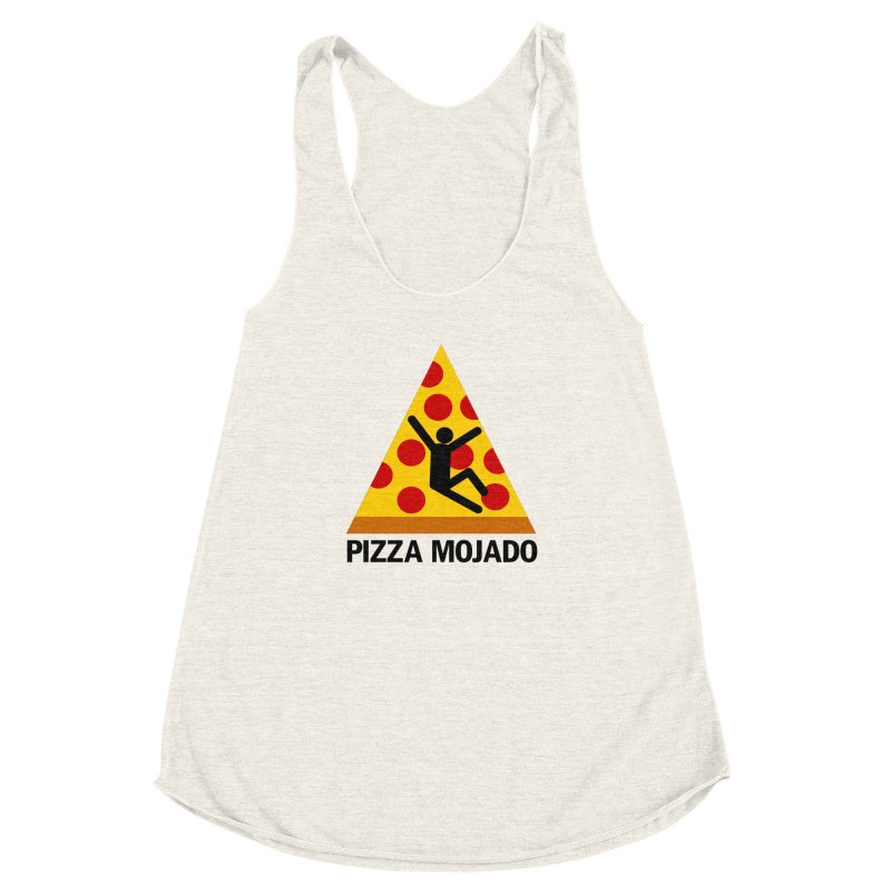 Pizza Mojado Women's Racerback Triblend Tank by SavageMonsters's Artist Shop