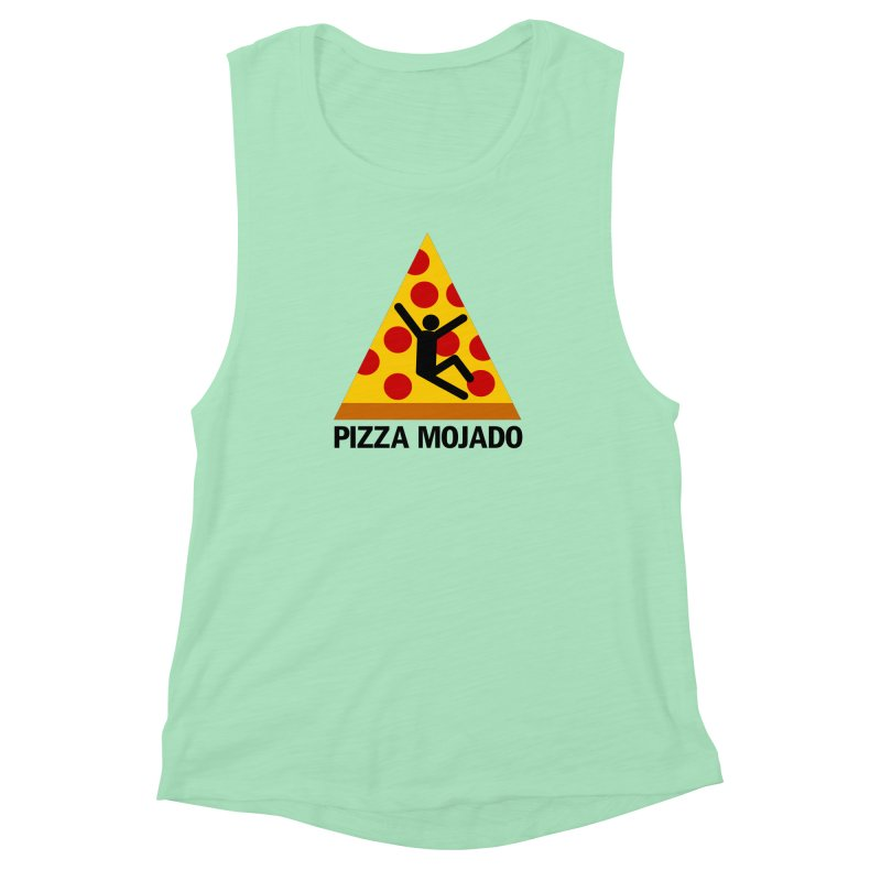 Pizza Mojado Women's Muscle Tank by SavageMonsters's Artist Shop