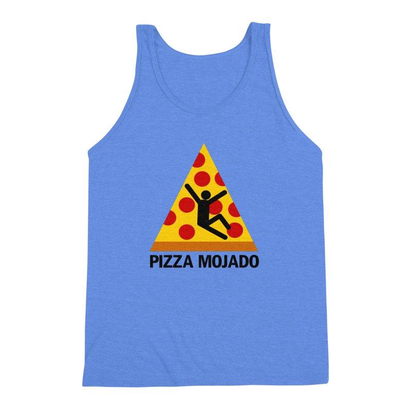 Pizza Mojado Men's Triblend Tank by SavageMonsters's Artist Shop