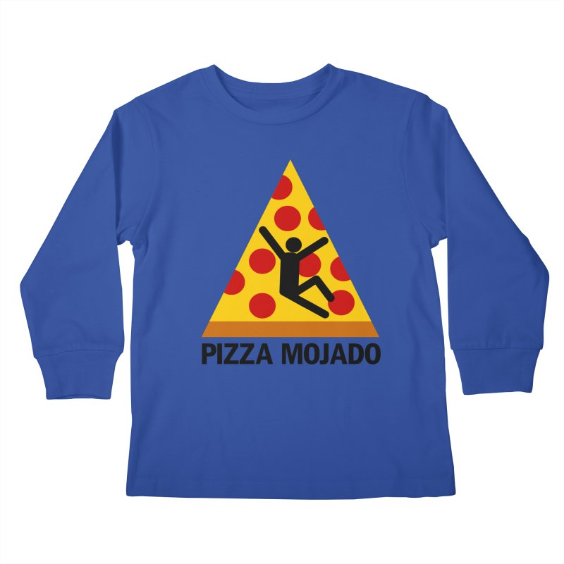 Pizza Mojado Kids Longsleeve T-Shirt by SavageMonsters's Artist Shop
