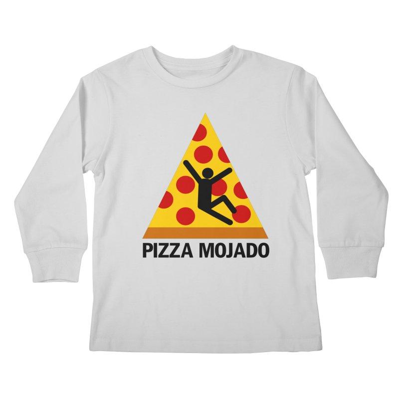 Pizza Mojado Kids Longsleeve T-Shirt by SavageMonsters's Artist Shop