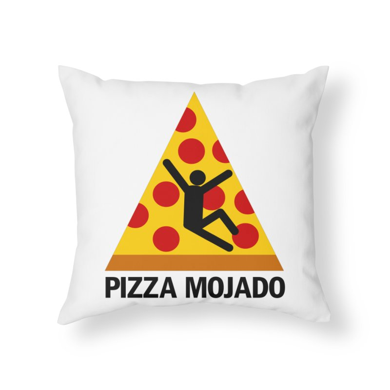 Pizza Mojado Home Throw Pillow by SavageMonsters's Artist Shop