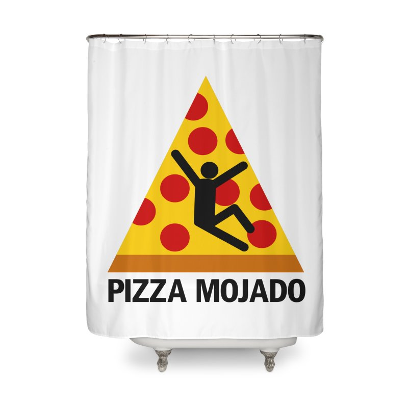 Pizza Mojado Home Shower Curtain by SavageMonsters's Artist Shop